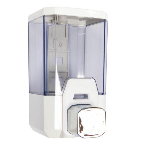 Soap Dispenser | 1 Litre | Chrome & White - Image1