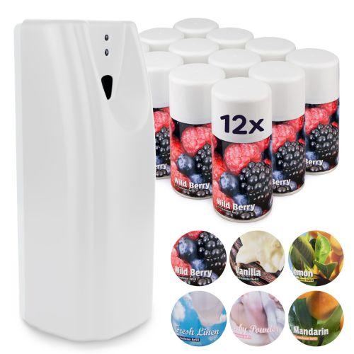 Air Freshener Starter Kit - Automatic White Dispenser