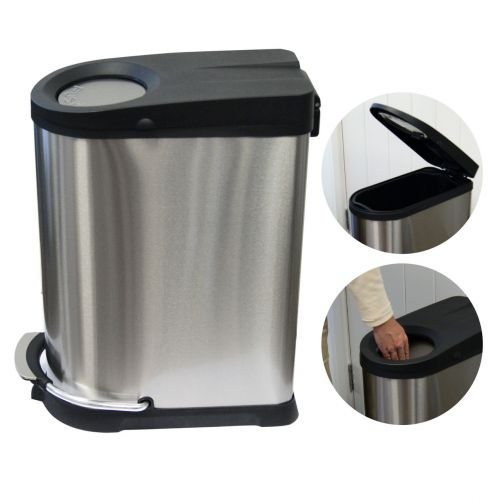 Wilkie 4 in 1 XP Bin | Pedal & Push | Soft Close | Stainless Steel - Image1