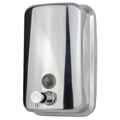 Polished Stainless Steel Soap Dispenser | 800ml /1000ml | Vertical - Image1