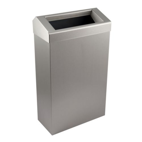 Brushed Stainless Steel 30L Waste Bin - Free Standing Or Wall Mounted - Image1